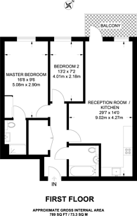 Large floorplan for Copperwood Place, Greenwich, SE10
