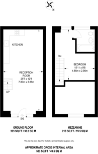 Large floorplan for Pump House Close, Rotherhithe, SE16