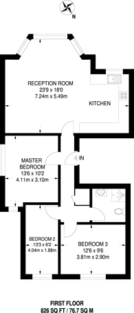 Large floorplan for Park Avenue, Willesden Green, NW2