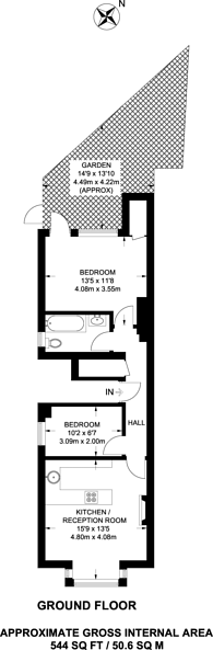 Large floorplan for Cooper Road, Dollis Hill, NW10