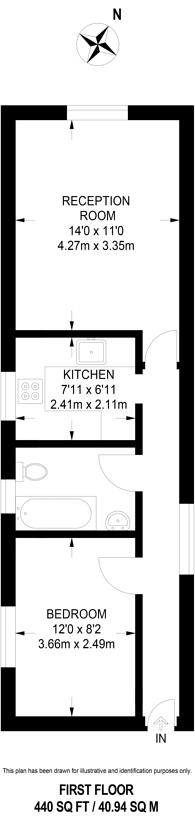 Large floorplan for Culverden Road, Bedford Hill, SW12