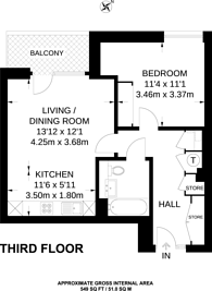 Large floorplan for Enderby Wharf, Greenwich, SE10