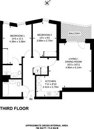 Large floorplan for Enderby Wharf, Greenwich, SE10