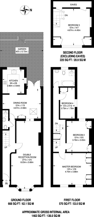 Large floorplan for Elliott Road, Turnham Green, W4
