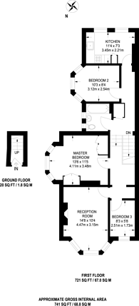 Large floorplan for Imperial Road, Wood Green, N22