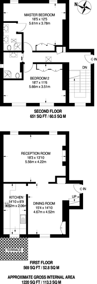 Large floorplan for Durham Place, Sloane Square, SW3