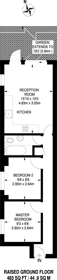 Large floorplan for Russell Road, Hendon, NW9