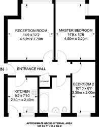 Large floorplan for Tanfield Avenue, Neasden, NW2
