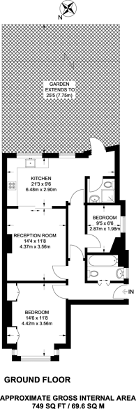 Large floorplan for Southdown Road, Wimbledon, SW20