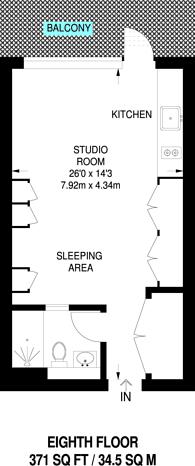 Large floorplan for Cobblestone Square, Wapping, E1W