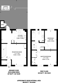 Large floorplan for West Gardens, Wapping, E1W