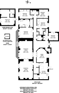 Large floorplan for Albion Street, Hyde Park Estate, W2