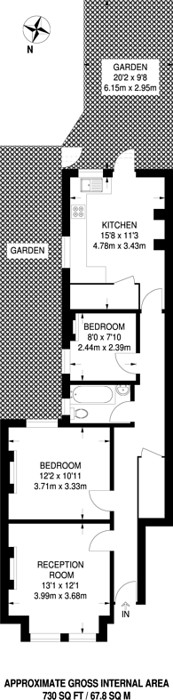 Large floorplan for St Marys Road, Harlesden, NW10