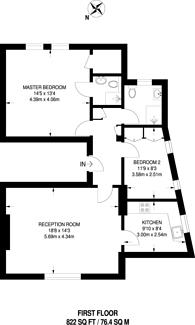 Large floorplan for Marylands Road, Maida Vale, W9