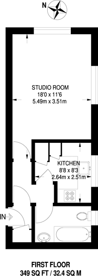 Large floorplan for Kirkwall Place, Bethnal Green, E2