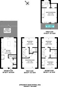 Large floorplan for Park Row, Greenwich, SE10