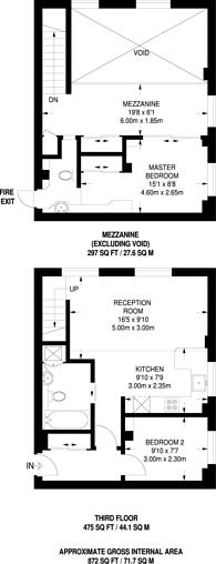 Large floorplan for Manor Gardens, Islington, N7