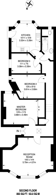 Large floorplan for Fortis Green Road, Muswell Hill, N10
