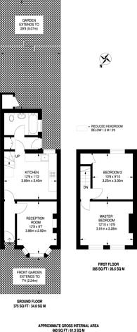 Large floorplan for Haig Road West, Plaistow, E13