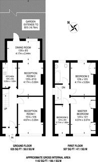 Large floorplan for Ringwood Avenue, Mitcham, CR0