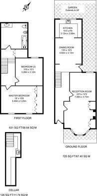 Large floorplan for Wadham Road, Putney, SW15