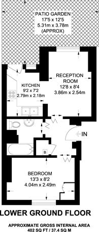 Large floorplan for Wilmot Street, Bethnal Green, E2