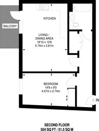 Large floorplan for Elmington Green, Camberwell, SE5