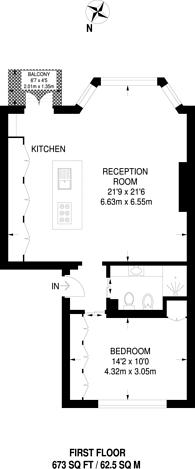 Large floorplan for Clapham Common North Side, Clapham Common North Side, SW4