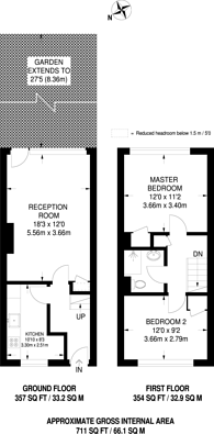 Large floorplan for Rowcross Street, Bermondsey, SE1
