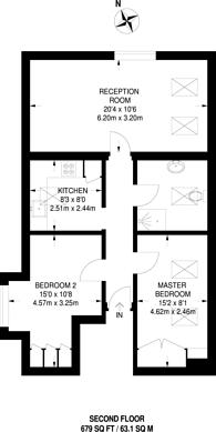 Large floorplan for Heathhurst Road, South Croydon, CR2