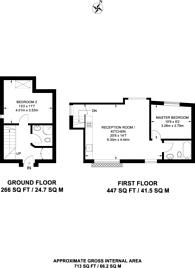 Large floorplan for North End Road, Fulham, SW6