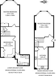 Large floorplan for Palace Gate, Kensington, W8
