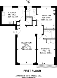Large floorplan for Abbots House, Holland Park, W14