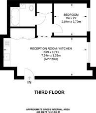 Large floorplan for Columbia Gardens, Earls Court, SW6