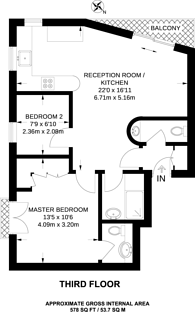 Large floorplan for Goodge Street, Fitzrovia, W1T