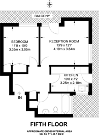 Large floorplan for Shaw Court, Clapham Junction, SW11