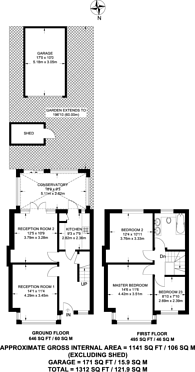 Large floorplan for Ridge Road, Mitcham, CR4