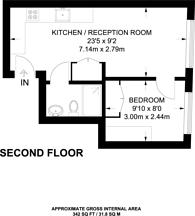 Large floorplan for King Street, Hammersmith, W6