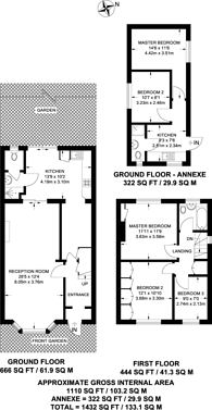 Large floorplan for Windmill Lane, Greenford, UB6