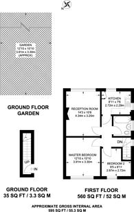 Large floorplan for Riverside Gardens, Wembley, HA0
