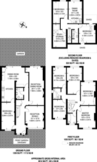 Large floorplan for Churchill Avenue, Kenton, HA3