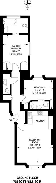Large floorplan for St Stephens Gardens, Notting Hill, W2