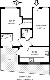 Large floorplan for Robert Burn Mews, Herne Hill, SE24