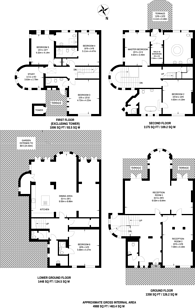 Large floorplan for Lyndhurst Terrace, Hampstead, NW3