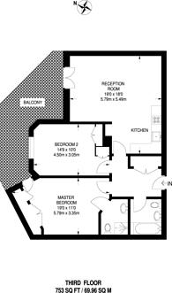 Large floorplan for Thornbury Court, Notting Hill, W11