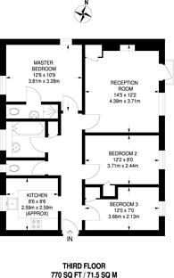 Large floorplan for Heaton Road, Peckham, SE15