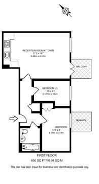 Large floorplan for Eden Grove, Holloway, N7