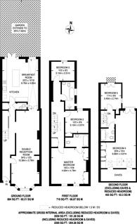 Large floorplan for Chaldon Road, Fulham, SW6