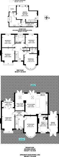 Large floorplan for Waxwell Lane, Pinner, HA5