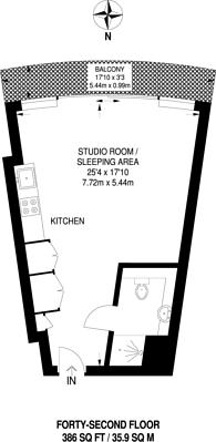Large floorplan for Crossharbour Plaza, Docklands, E14